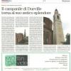 Il campanile di Dueville torna al suo antico splendore
